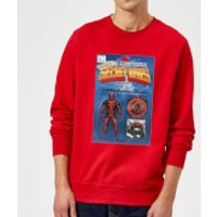 Marvel Deadpool Secret Wars Action Figure Sweatshirt - Red - XL - Red - Action Gifts