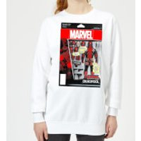 Marvel Deadpool Action Figure Women's Sweatshirt - White - XL - White - Action Gifts
