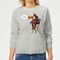 Marvel Deadpool Director Cut Women's Sweatshirt - Grey - L - Grey - Deadpool Gifts