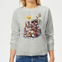 Marvel Deadpool Merchandise Royalties Women's Sweatshirt - Grey - L - Grey - Deadpool Gifts