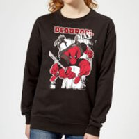 Marvel Deadpool Max Women's Sweatshirt - Black - XXL - Black - Deadpool Gifts