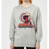 Marvel Deadpool Upside Down Women's Sweatshirt - Grey - XS - Grey