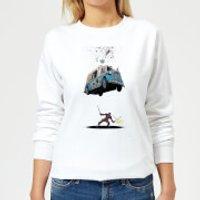 Marvel Deadpool Ice Cream Women's Sweatshirt - White - L - White
