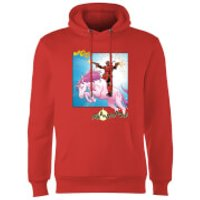 Marvel Deadpool Unicorn Battle Hoodie - Red - XL - Red - Deadpool Gifts