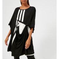 Y3-Womens-3-Stripe-Layered-TShirt-BlackCore-White-S-Black