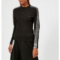 Y3-Womens-3-Stripe-Long-Sleeve-TShirt-BlackCore-White-S-Black