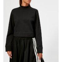 Y3-Womens-Stacked-Logo-High-Neck-Sweatshirt-Black-M-Black