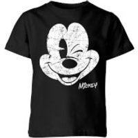 Disney Worn Face Kids' T-Shirt - Black - 11-12 Years - Black