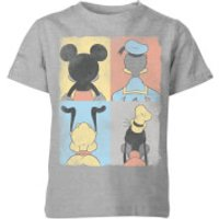 Disney Donald Duck Mickey Mouse Pluto Goofy Tiles Kids' T-Shirt - Grey - 11-12 Years - Grey - Duck Gifts