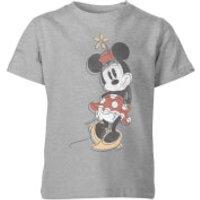 Disney Minnie Offset Kids' T-Shirt - Grey - 11-12 Years - Grey