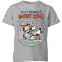 Disney Retro Poster Piano Kids' T-Shirt - Grey - 11-12 Years - Grey - Music Gifts