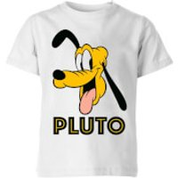 Disney Pluto Face Kids' T-Shirt - White - 7-8 Years - White