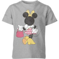 Disney Minnie Mouse Back Pose Kids' T-Shirt - Grey - 11-12 Years - Grey - Minnie Mouse Gifts