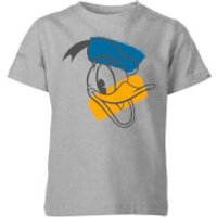 Disney Donald Duck Head Kids' T-Shirt - Grey - 11-12 Years - Grey - Duck Gifts