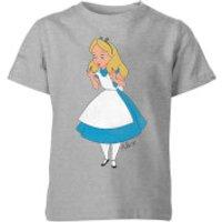 Disney Alice In Wonderland Surprised Alice Kids' T-Shirt - Grey - 11-12 Years - Grey - Alice In Wonderland Gifts