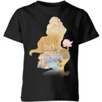 Disney Princess Filled Silhouette Belle Kids' T-Shirt - Black - 3-4 Years - Black
