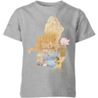 Disney Princess Filled Silhouette Belle Kids' T-Shirt - Grey - 3-4 Years - Grey