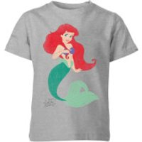 Disney The Little Mermaid Princess Ariel Classic Kids' T-Shirt - Grey - 3-4 Years - Grey - Little Mermaid Gifts