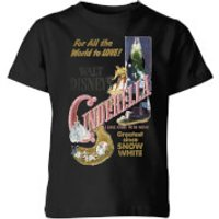 Disney Disney Princess Cinderella Retro Poster Kids' T-Shirt - Black - 3-4 Years - Black