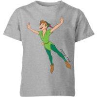 Disney Peter Pan Flying Kids' T-Shirt - Grey - 11-12 Years - Grey - Peter Pan Gifts