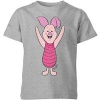 Disney Winnie The Pooh Piglet Classic Kids' T-Shirt - Grey - 3-4 Years - Grey