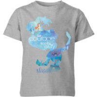 Disney Princess Filled Silhouette Ariel Kids' T-Shirt - Grey - 11-12 Years - Grey - Disney Princess Gifts