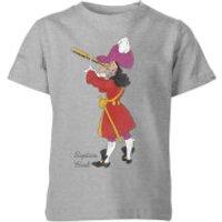 Disney Peter Pan Captain Hook Classic Kids' T-Shirt - Grey - 11-12 Years - Grey - Peter Pan Gifts