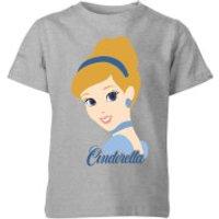 Disney Princess Colour Silhouette Cinderella Kids' T-Shirt - Grey - 5-6 Years - Grey