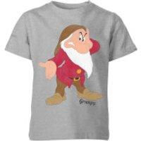 Disney Snow White Grumpy Classic Kids' T-Shirt - Grey - 3-4 Years - Grey