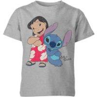 Disney Lilo & Stitch Classic Kids' T-Shirt - Grey - 9-10 Years - Grey