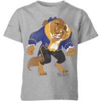 Disney Beauty And The Beast Classic Kids' T-Shirt - Grey - 5-6 Years - Grey
