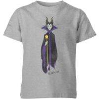Disney Sleeping Beauty Maleficent Classic Kids' T-Shirt - Grey - 11-12 Years - Grey - Sleeping Beauty Gifts