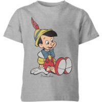 Disney Pinocchio Classic Kids' T-Shirt - Grey - 9-10 Years - Grey