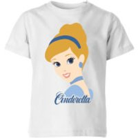 Disney Princess Colour Silhouette Cinderella Kids' T-Shirt - White - 9-10 Years - White