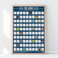 100 Games Bucket List Poster - Games Gifts
