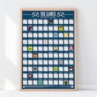 100 Games Bucket List Poster