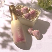 Choc on Choc Chocolate Prosecco Bottle and Strawberries - Prosecco Gifts