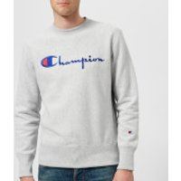 Champion Men's Crew Neck Script Sweatshirt - Grey - S