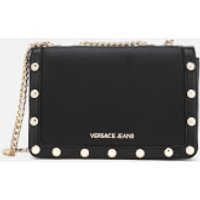 Versace Jeans Womens Logo Chain Handle Cross Body Bag - Black