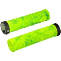 Supacaz Grizips Splash MTB Grips - Neon Yellow/Neon Blue