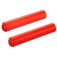 Supacaz Siliconez MTB Grips - Standard - Neon Red