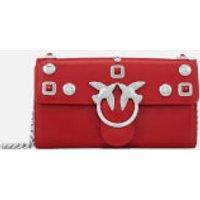 Pinko Women's Brittan Wallet with Shoulder Strap - Red