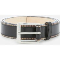 Paul Smith Men's Stripe Detail Belt - Black - W30 - Black