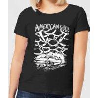 American Gods Car Storm Women's T-Shirt - Black - XXL - Black - Car Gifts