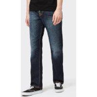 Nudie Jeans Men's Sleepy Sixteen Straight Jeans - Authentic Dark - W32/L34 - Blue