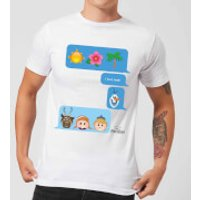 Disney Frozen I Love Heat Emoji Men's T-Shirt - White - XL - White