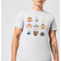 Disney Frozen Emoji Heads Men's T-Shirt - Grey - XXL - Grey