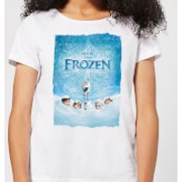 Frozen Snow Poster Women's T-Shirt - White - XXL - White - Snow Gifts