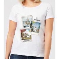 Die Eiskönigin Olaf Polaroid Damen T-Shirt - Weiß - XXL - Weiß