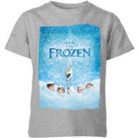 Disney Frozen Snow Poster Kids' T-Shirt - Grey - 3-4 Years - Grey